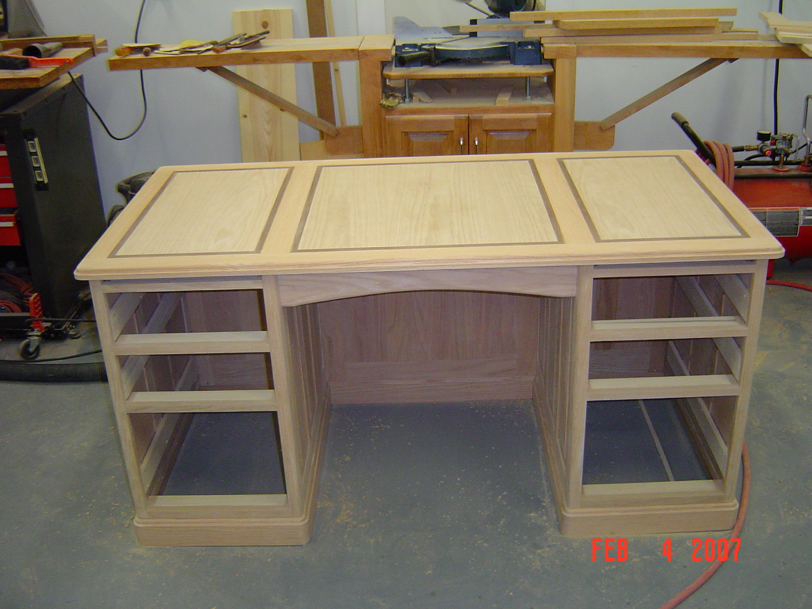 Woodshop desk plans