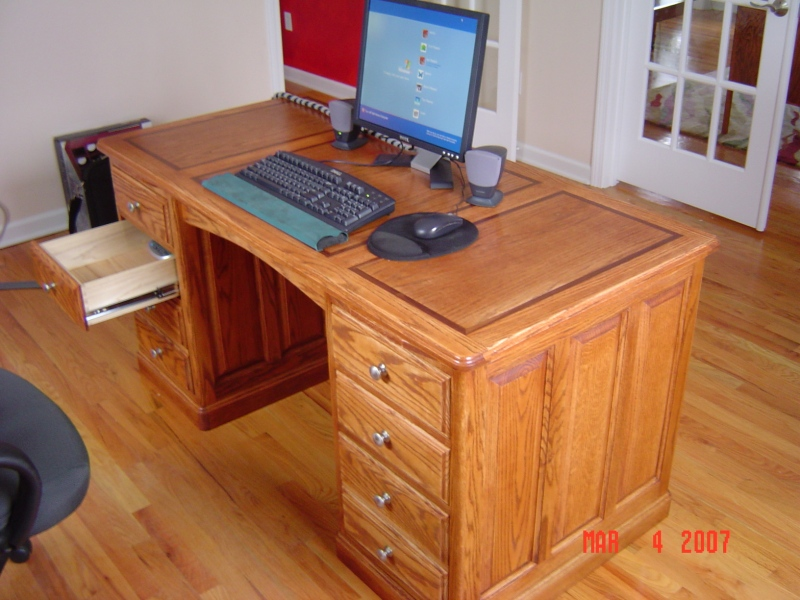 wood plans computer desk